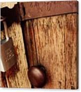Locked Barn Canvas Print