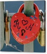 Locked Love Canvas Print