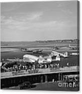 Lockheed Constellation Plane Fueling Up Canvas Print