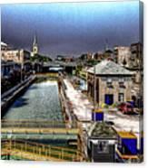 Lockport Canal Locks Canvas Print