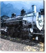 Locomotive 495 A Romantic View Canvas Print