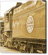 Locomotive And Coal Car Of Yesteryear Canvas Print