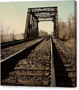 Locomotive Truss Bridge Canvas Print