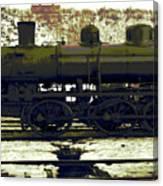 Locomotive Vector Canvas Print