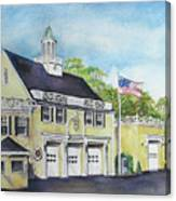 Locust Valley Firehouse Canvas Print