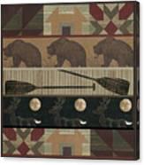 Lodge Cabin Quilt Canvas Print