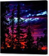 Lodge Sunset Canvas Print