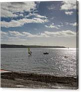 Loe Beach Windsurfers Canvas Print