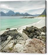 Lofoten Island Beach Scene Canvas Print