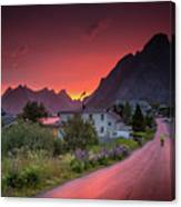 Lofoten Nightlife  Canvas Print