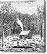 Log Cabin, C1800 Canvas Print