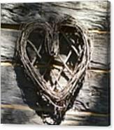 Log Cabin Love Canvas Print