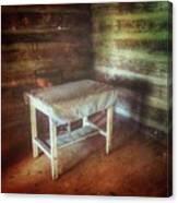 Log Cabin Table Canvas Print