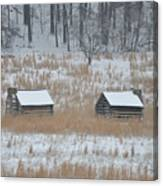 Log Cabins In Valley Forge Canvas Print