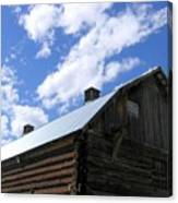 Log Clydesdale Barn Canvas Print