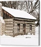 Log Home Canvas Print