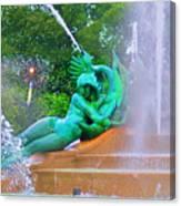 Logan Circle Fountain 6 Canvas Print