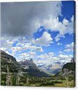Logan Pass Panorama - Glacier National Park Canvas Print