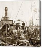Logging, Clemons Camp No. 3 No. 1, Circa 1920 Canvas Print
