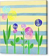 Lollipop Flower Bed Canvas Print