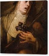 Lombard School, 17th Century Saint Catherine Of Siena Canvas Print