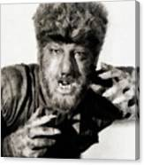 Lon Chaney, Jr. As Wolfman Canvas Print