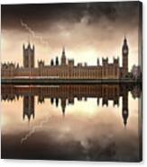 London - The Houses Of Parliament  Canvas Print