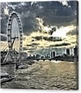 London A View From A Bridge  Canvas Print