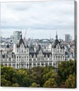 London Along The River Thames Canvas Print