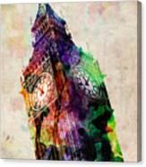 London Big Ben Urban Art Canvas Print
