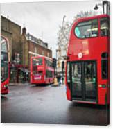 London Buses Canvas Print
