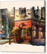London Cafe Pf Canvas Print