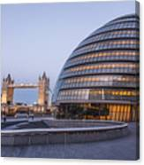 London City Hall And Tower Bridge. Canvas Print