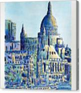 London City St Paul's Cathedral Canvas Print