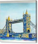 London City Tower Bridge Canvas Print