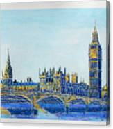 London City Westminster Canvas Print
