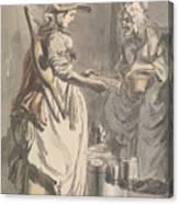 London Cries - A Milkmaid Canvas Print