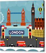 London England Horizontal Scene - Collage Canvas Print