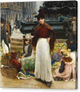 London Flower Girls Piccadilly Circus Canvas Print