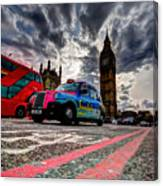 London In One Picture Canvas Print