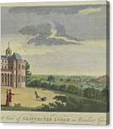 London Magazine, London South East View Of Gloucester Lodge In Windsor Great Park Published Aug 1780 Canvas Print