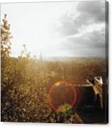 London Partialy Cloudy With A Chance Of Flare Canvas Print