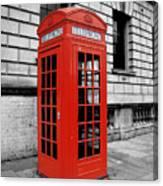 London Phone Booth Canvas Print