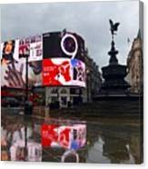 London Piccadilly On A Rainy Day Canvas Print