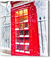 London Red Telephone Booth  Canvas Print