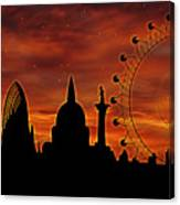 London Skyline At Dusk Canvas Print
