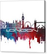London Skyline City Blue Canvas Print