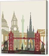 London Skyline Poster Canvas Print
