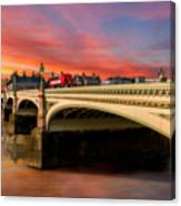 London Sunset Canvas Print