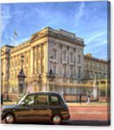 London Taxi And Buckingham Palace  Canvas Print